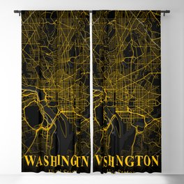Washington DC City Map   Gold American City Street Map   United States Cities Maps Blackout Curtain