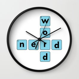 Nerd Word Crossword Puzzle Geek Numbered Squares Puzzlers Thinking Gift Wall Clock