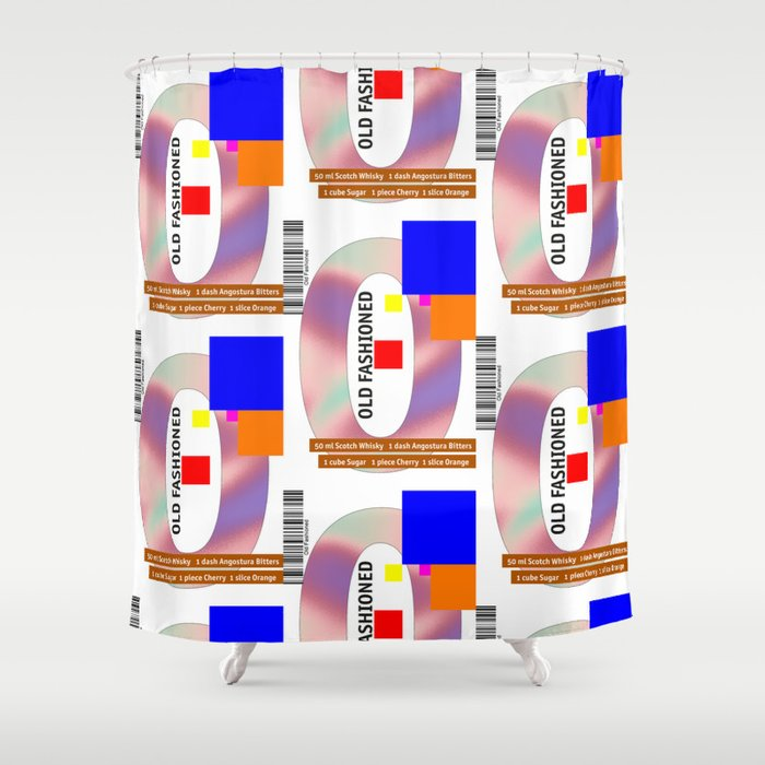 """Cocktail """"O"""" - Old Fashioned Shower Curtain"""