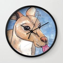 Window Licker-Roo Wall Clock