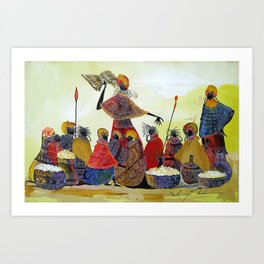 A painting of the phrase '' IT WAS WRITEN THOU SHALL NOT....'' Art Print