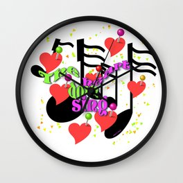 THE HEART DOTH SING Wall Clock