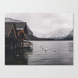 Lake and mountains Canvas Print