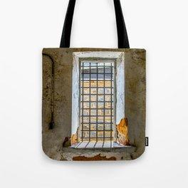 Behind Steel Bars Tote Bag