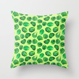 Brussel sprouts pattern for veggie lovers Throw Pillow