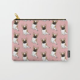 Pouty Cute Black Mask Pied French Bulldog Wants Your Love Carry-All Pouch