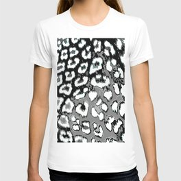 Black and White Leopard Spots T-shirt