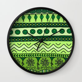 Yzor pattern 003 green Wall Clock
