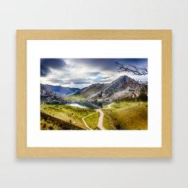 The Lakes of Covadonga, Enol Framed Art Print