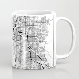 Minimal City Maps - Map Of Las Vegas, Nevada, United States Coffee Mug