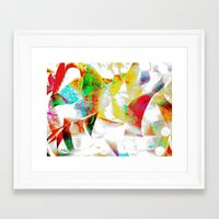 silver Framed Art Prints featuring Silver by Yilan