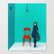 A Blue Bird Canvas Print