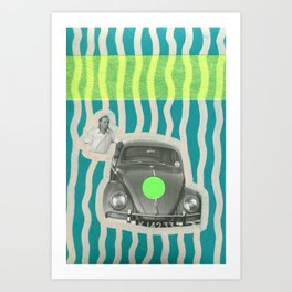 The Illusionist With His Car Art Print