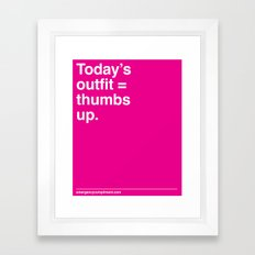 Today's Outfit Framed Art Print