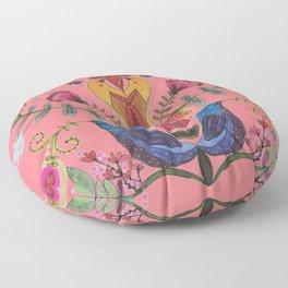 harmonie in salmon Floor Pillow