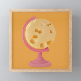 Cheese world Framed Mini Art Print
