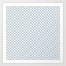 Check II - Baby Blue Art Print