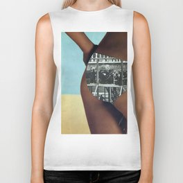 The People's History of the United States (Beach Edition) Vintage Collage Biker Tank