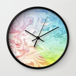 Rainbow Seas Wall Clock