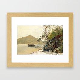John Frederick Kensett Landing at Sabbath Day Point Framed Art Print