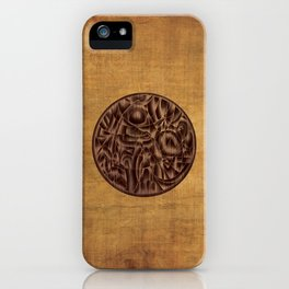 Abstract Wood Carving Pattern iPhone Case