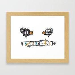 Starship Schematic Framed Art Print