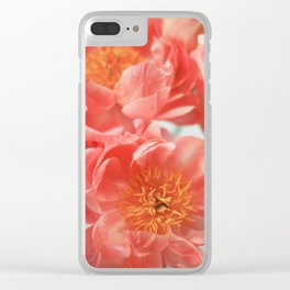 Paeonia #6 Clear iPhone Case