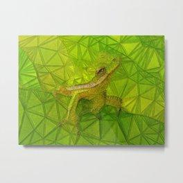 hidden frog Metal Print