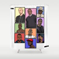 hiphop Shower Curtains featuring HipHop Legends by Akyanyme