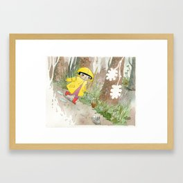 in the rain 2 Framed Art Print