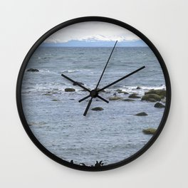 A colony of Magellanic penguins near Punta Arenas Chile Wall Clock