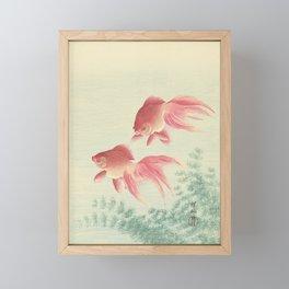 Goldfish Vintage Japanese Woodblock Print Framed Mini Art Print