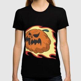 Pumpkin lantern in the fireball T-shirt