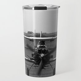 Crop Duster Making a Pass - BW Travel Mug
