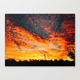 sunset from the other world Canvas Print
