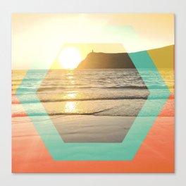 Port Erin - color graphic Canvas Print