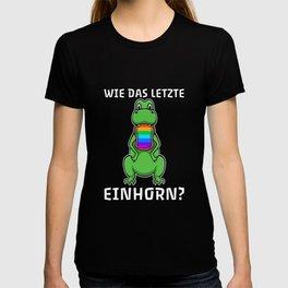Dino Last Unicorn Eaten Slogan T-shirt