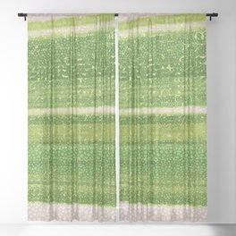 Leafs Stripes. green, white, stripes, nature, macro, leaf, leaves, decor, art, Society6. Sheer Curtain