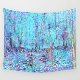Van Gogh Trees & Underwood Aqua Lavender Wall Tapestry