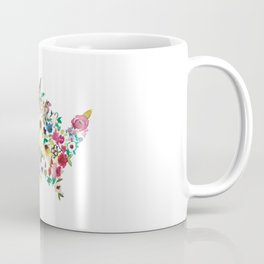 united flowers of america // watercolor floral flower map of the united states usa us Coffee Mug