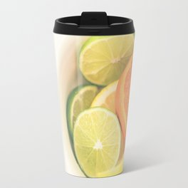 Citrus on White Travel Mug