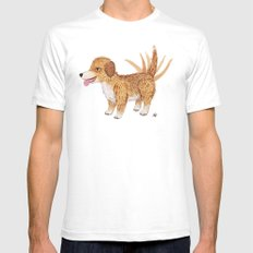 Doggy Mens Fitted Tee SMALL White