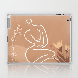 Woman in Nature Illustration Laptop & iPad Skin