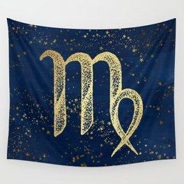 Virgo Zodiac Sign Wall Tapestry