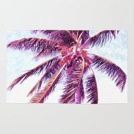 Palm Tree Violet Illustration Rug