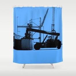 Harbour work Shower Curtain