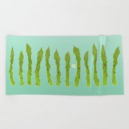 Asparagus Say Hi! Beach Towel