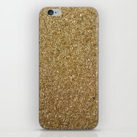 rose gold iPhone & iPod Skins featuring Gold by Rose Wierts