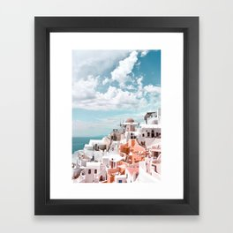 Santorini, Oia Framed Art Print
