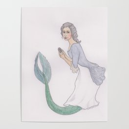 Sjöjungfrun Rokoko Poster